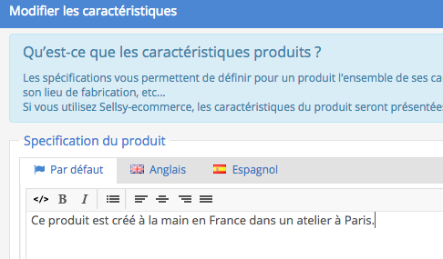 Ensuite lors de la définition de la mise en page de la fiche produit, vous  devez ajouter le widget   Détail produit. e9958f6a92bf