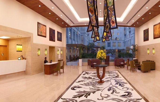 Lemon tree hotel reception lobby