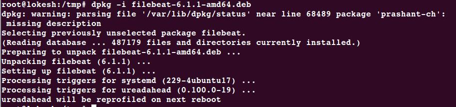 Filebeat 6 configuration in Ubuntu 16 - linuxtopic