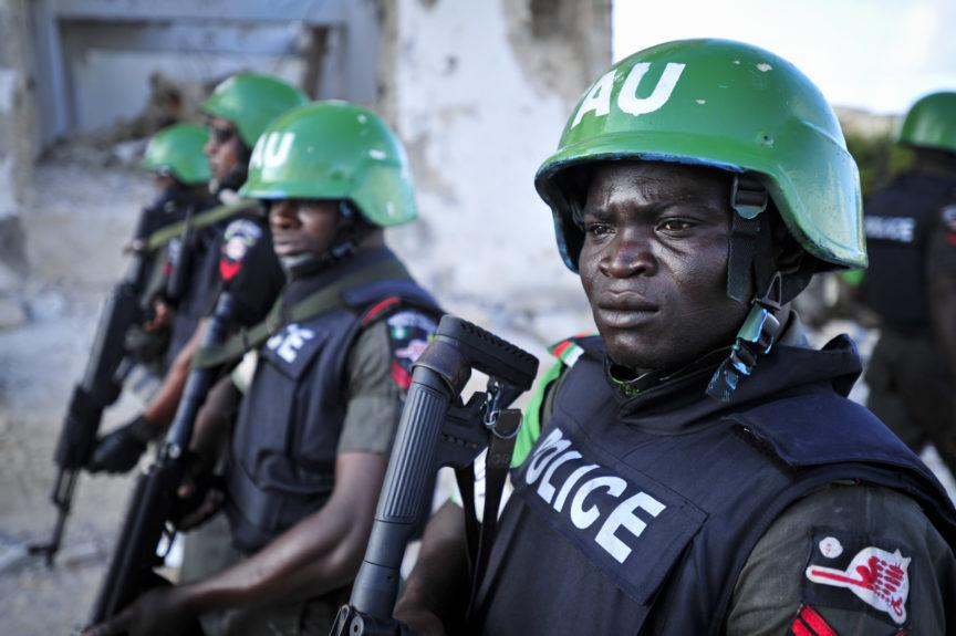 Nigerian police officers