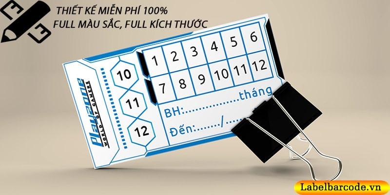 Bán giấy in tem bảo hành - nhận in tem bảo hành giá rẻ