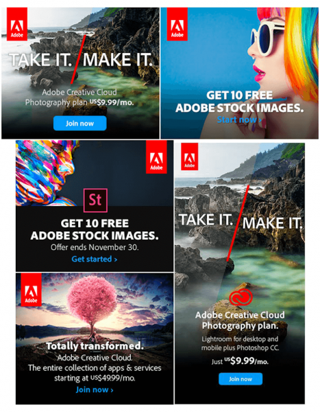 examples of banner ads from adobe