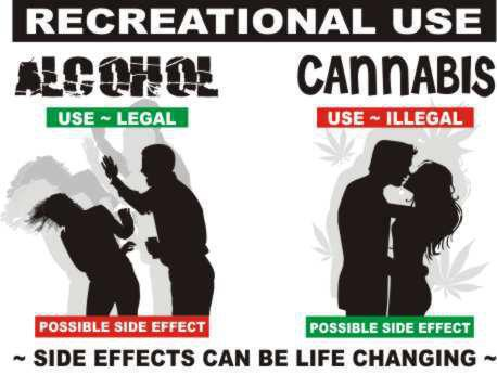 booze and pot - big difference