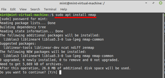 Install Zenmap in Linux Mint - install Nmap. Source: nudesystems.com