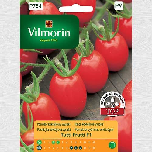 Pomidor koktajlowy wysoki Tutti Frutti F1 obraz 1