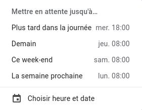 Des emails en attente pour traitement ultérieur