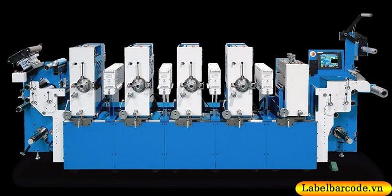 Hệ thống máy in flexo công nghiệp nhiều màu cho bản in sắc nét, chuẩn pantone tại An Thành