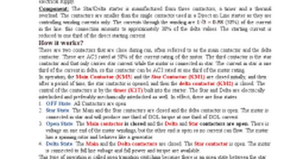 star delta connection diagram and working principle docx google docs