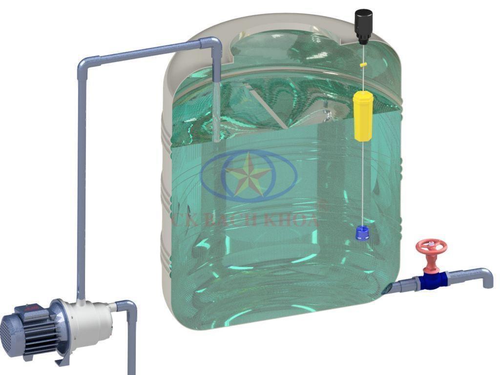 Thao tác lắp đặt phao cơ tự ngắt nước