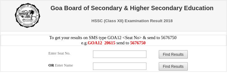 check goa board class 12th result online