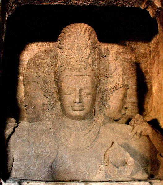 File:Elephanta Caves Trimurti.jpg