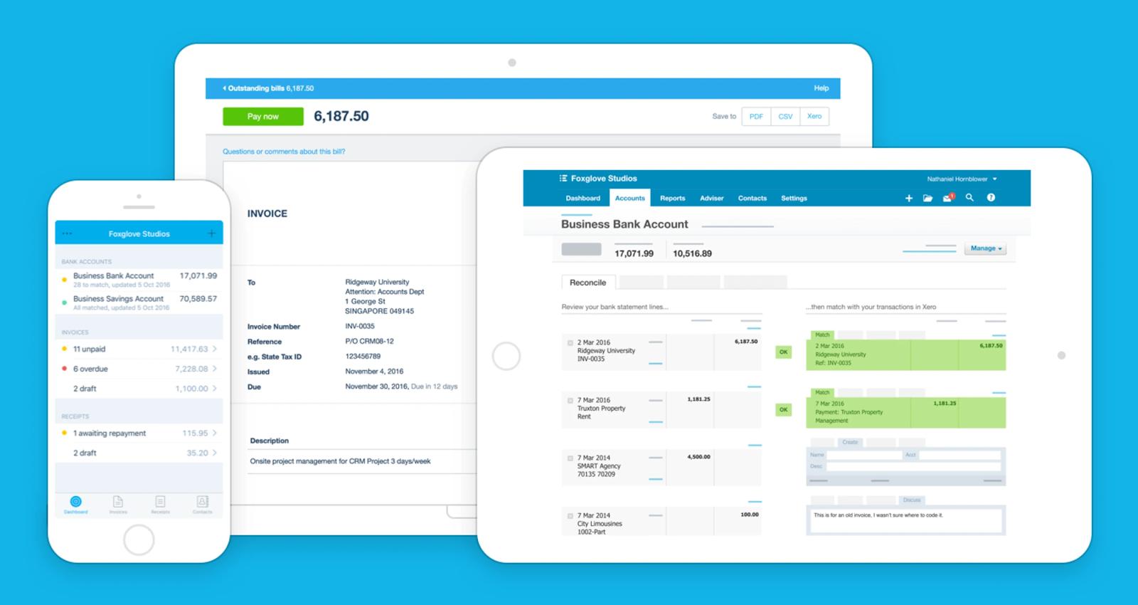 công cụ startup miễn phí - Xero