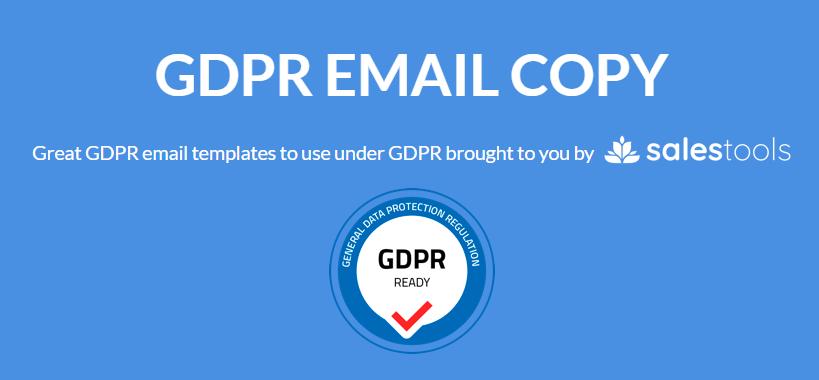 Portada de la web de GDPR Email copy
