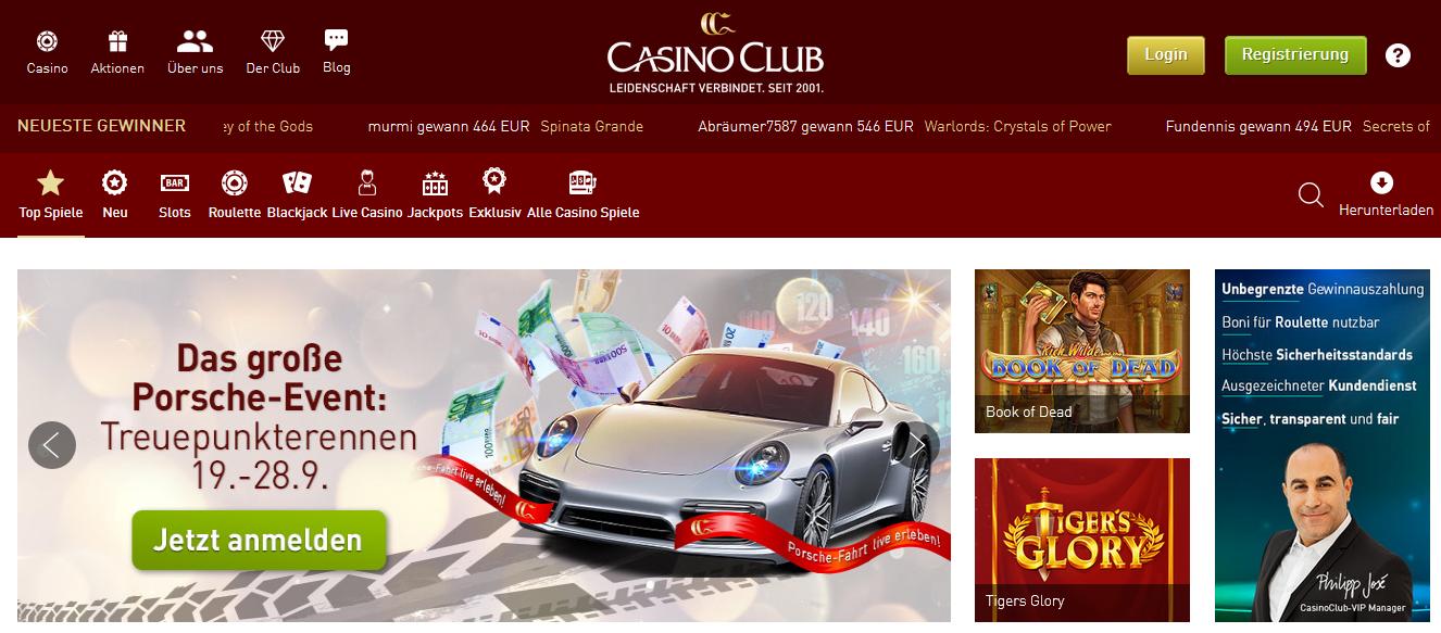 Casino Club arbeitet seit 2001