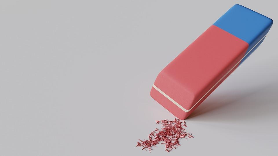 Eraser, Abrasion, Stationery, Office, School, Efface