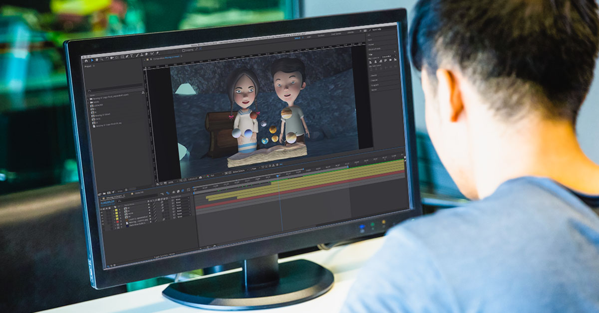 person taking video editing Short online courses Philippines
