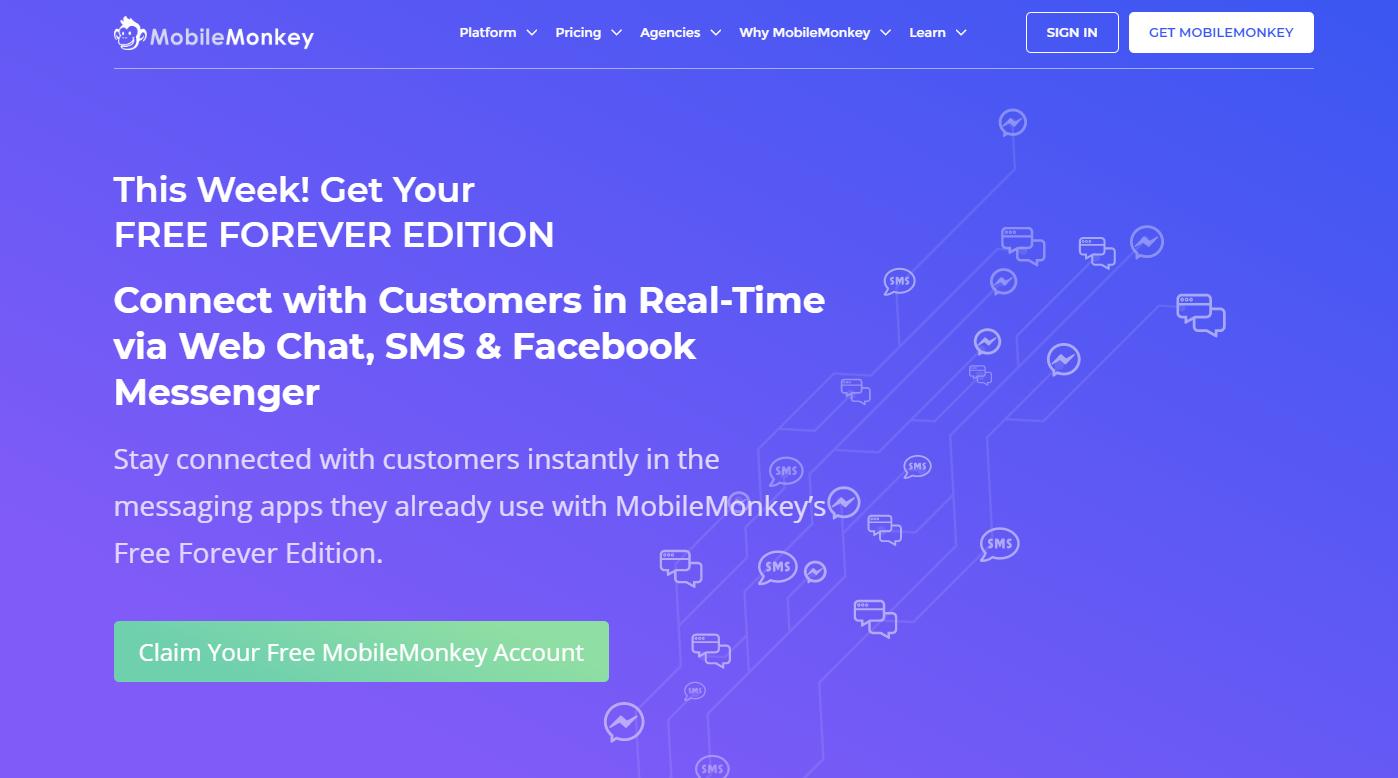 free marketing software MobileMonkey