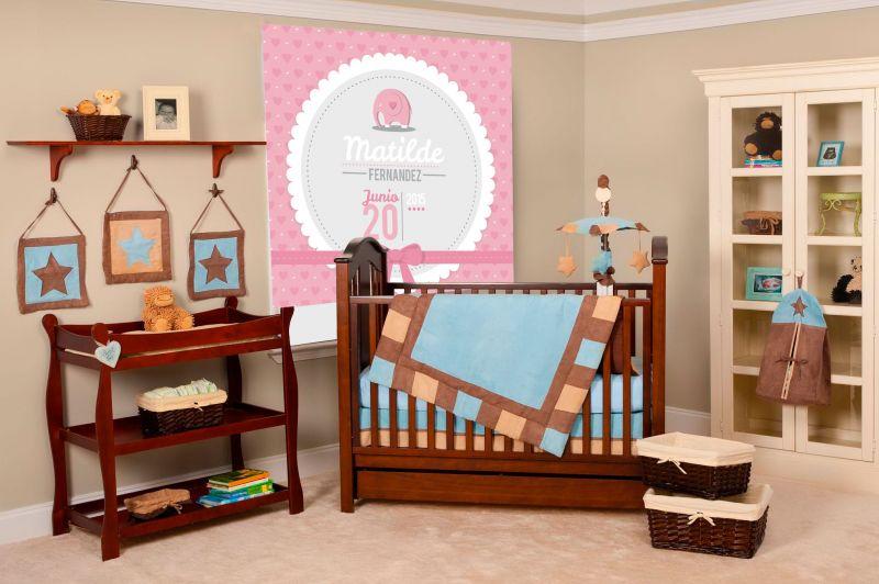 estores enrollables impresos para habitaciones infantiles