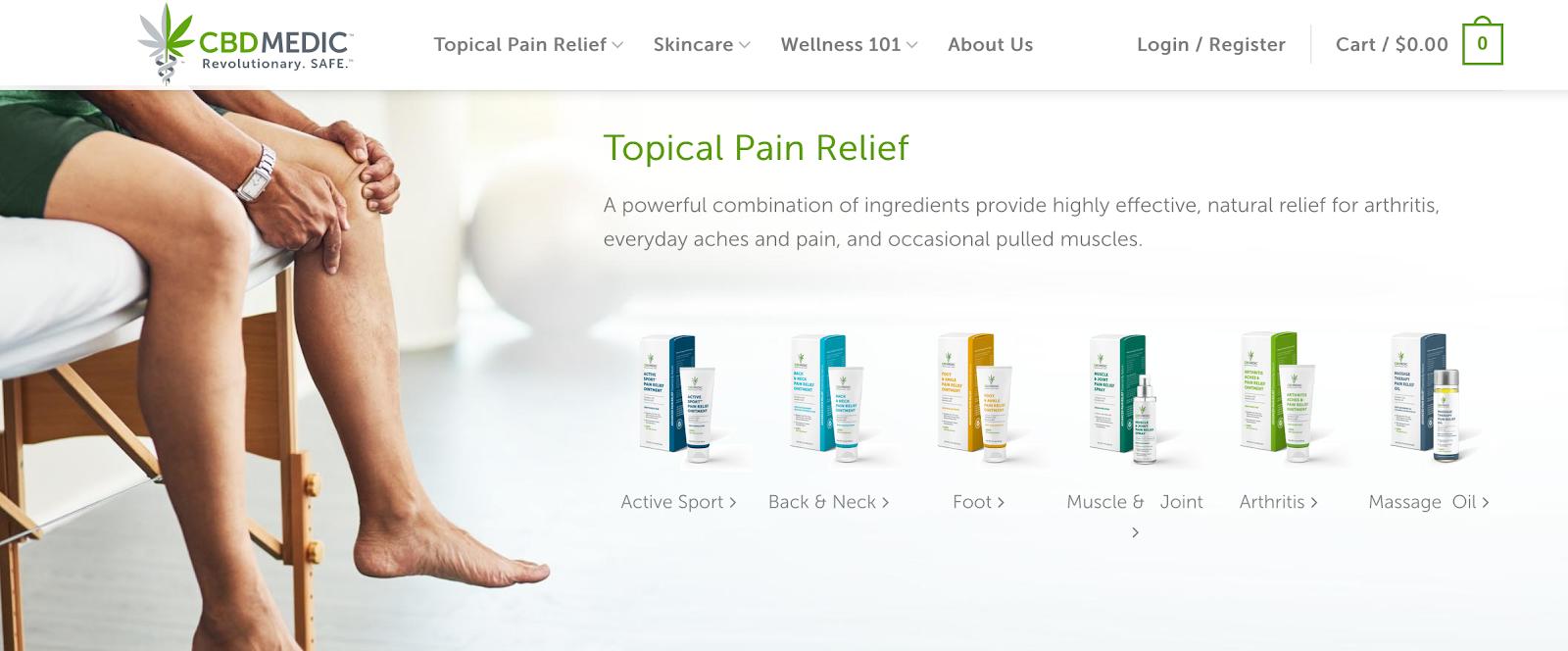 CBD Medic | Topical Pain Relief