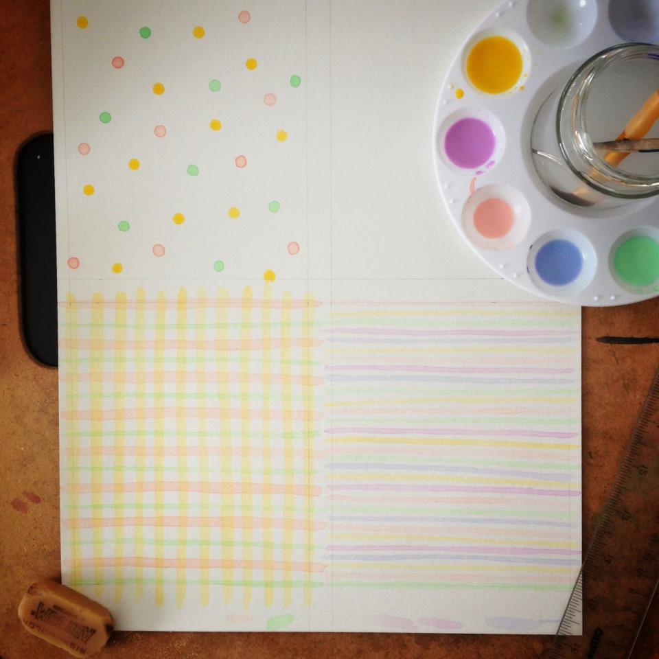 watercolor pattern design