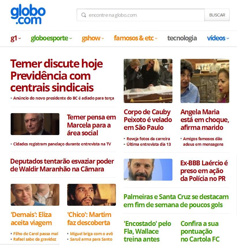 Globo.com não quis falar da vitória do Vasco