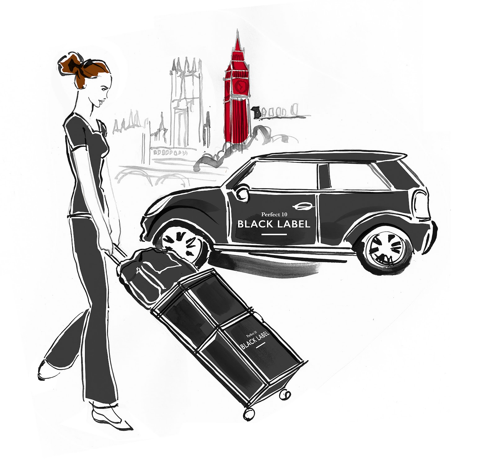 At home beauty service - Perfect 10 Black Label girl mini