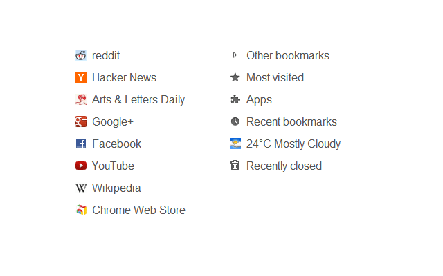 Humble New Tab Page chrome extension