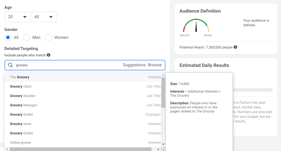 Select The Gender, Age & Designation of the Targeted Audience - Lia infraservices