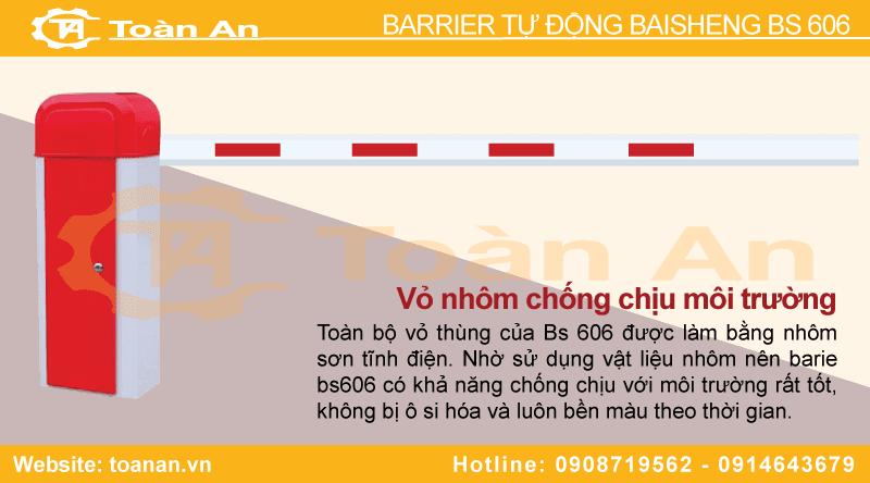 Vật liệu nhôm tấm được sử dụng để thiết kế và chế tạo ra vỏ thùng bảo vệ barrier bs606.