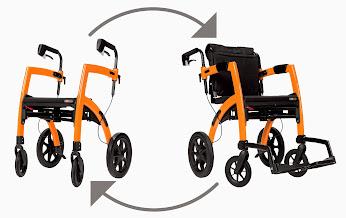 Rollz Motion Combination Rollator Walker And Transport