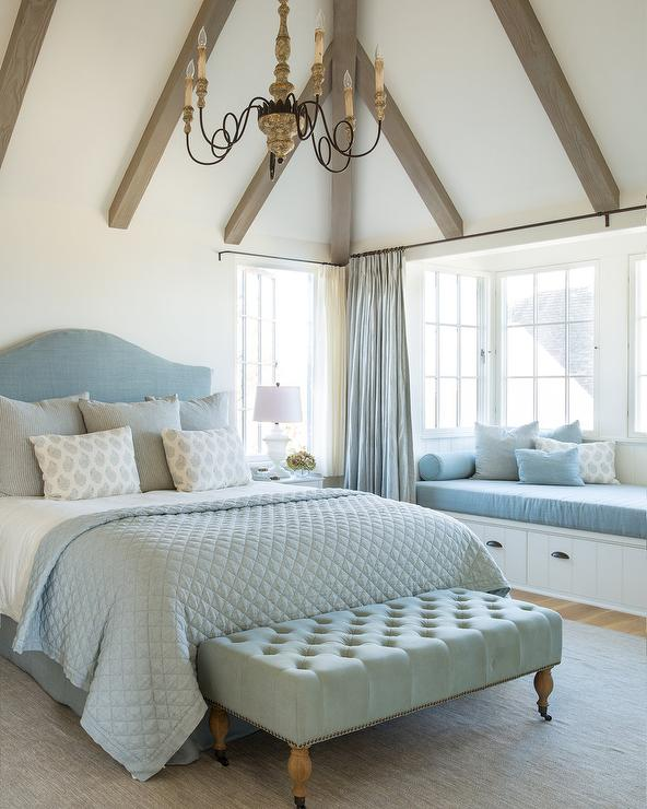 Pastel Blue French Country Bedroom