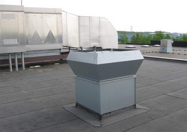 Крышные вентиляторы для дымоудаления с выходом потока вверх — фото, видео
