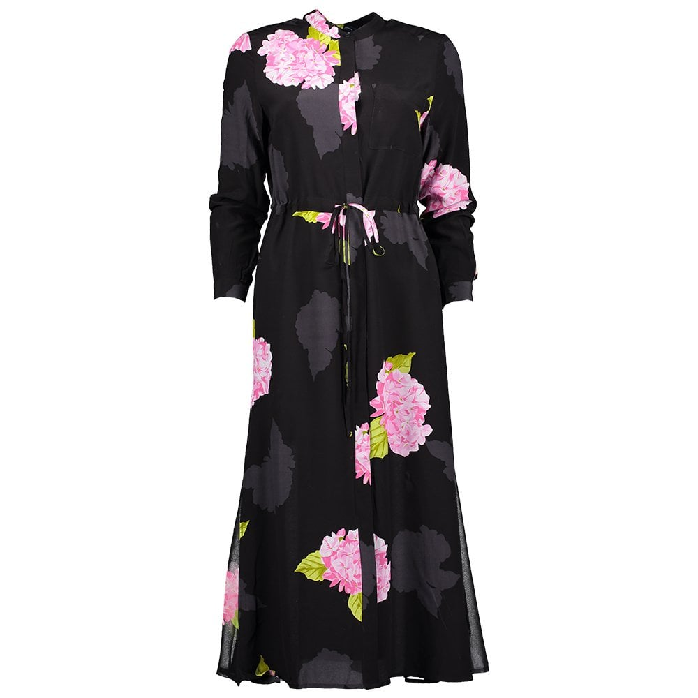 FRENCH CONNECTION Eleonore Drape Midi Shirt Dress