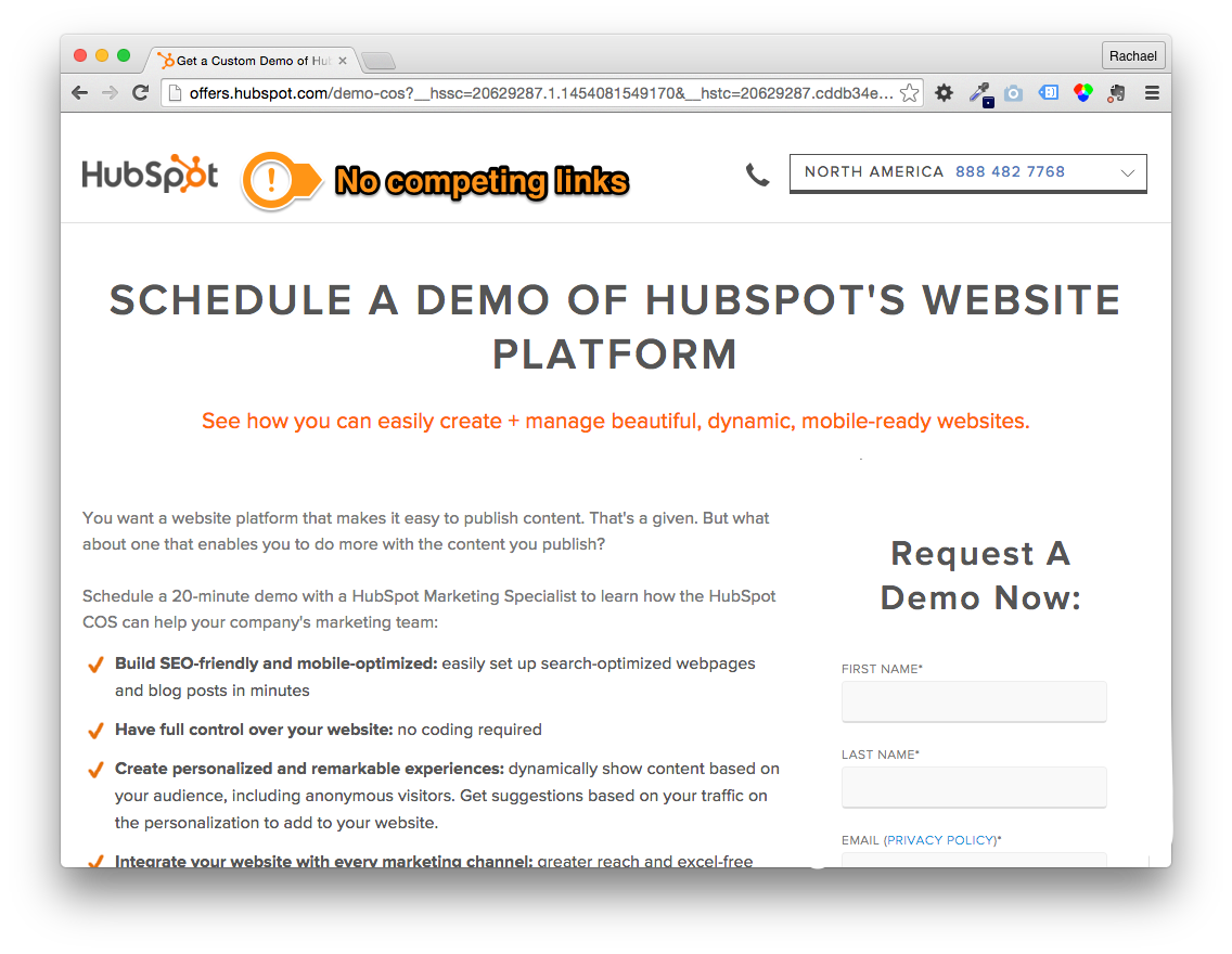Hubspot Free Demo Offer