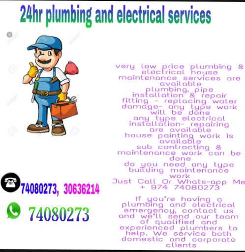 24 hr plumbing &electrical maintenance srevices in qatar