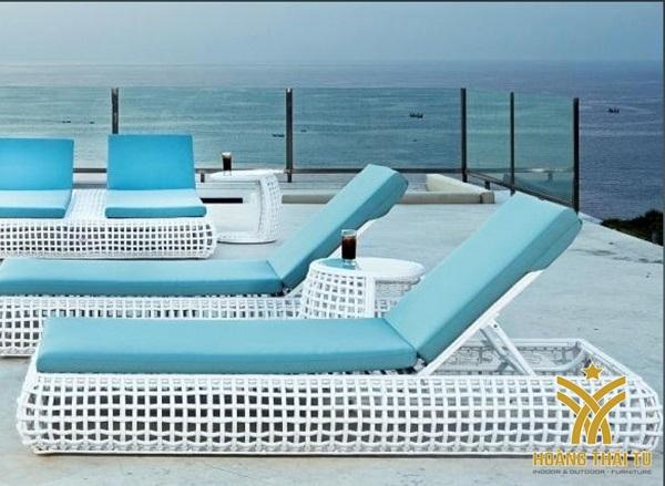 giường mây bể bơi - 2