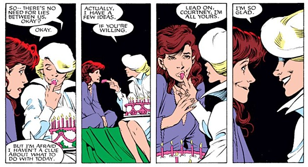 Kitty Pryde  y Courtney Ross