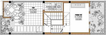 Tư vấn thiết kế nhà lệch tầng trên diện tích 4,21x14,42m | ảnh 5