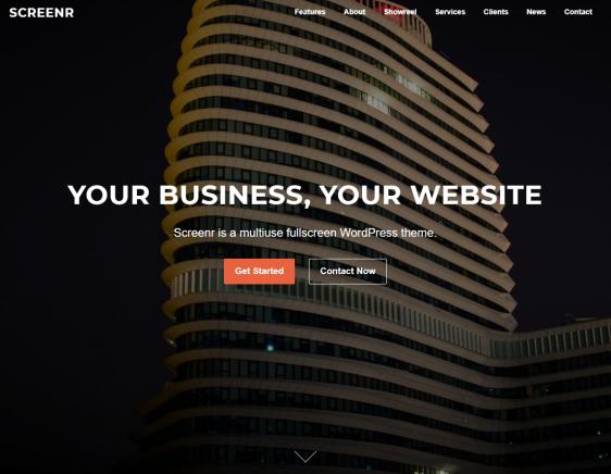 Screenr Free WordPress Theme