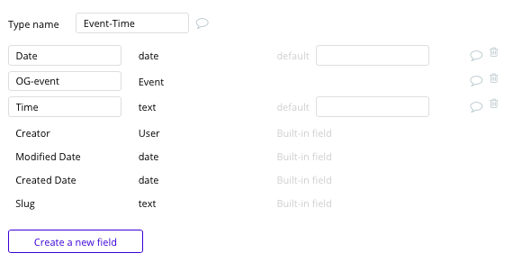 Bubble no-code Ticketmaster clone tutorial with event time data type and fields