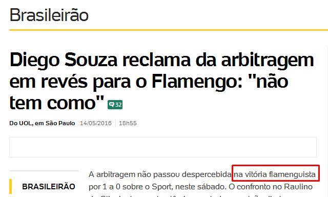 Flamengo sempre é beneficiado