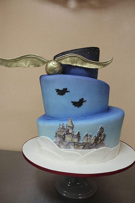 Harry Potter Wedding Cake..man I wish i had seen this way back when