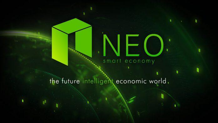 Ilustrasi token crypto NEO