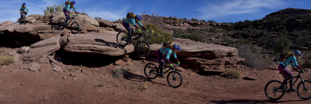 Moab slickrock mountain biking