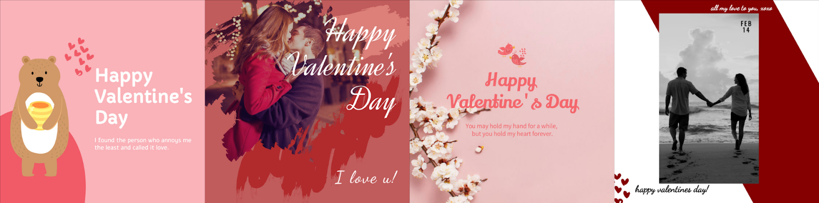 Stunning Valentine's card templates from Designmaker.