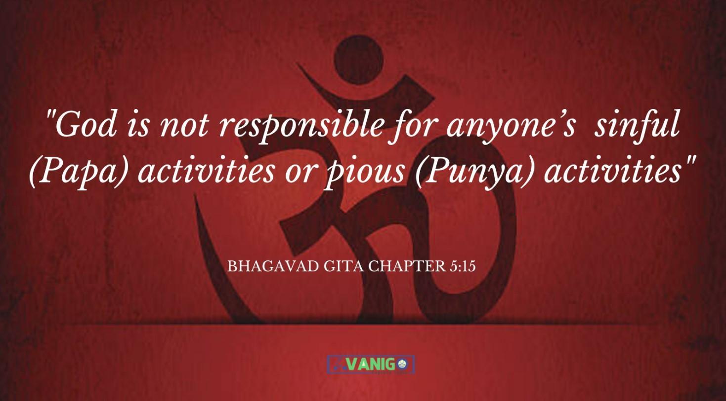 Bhagvad Gita Chapter 5:15