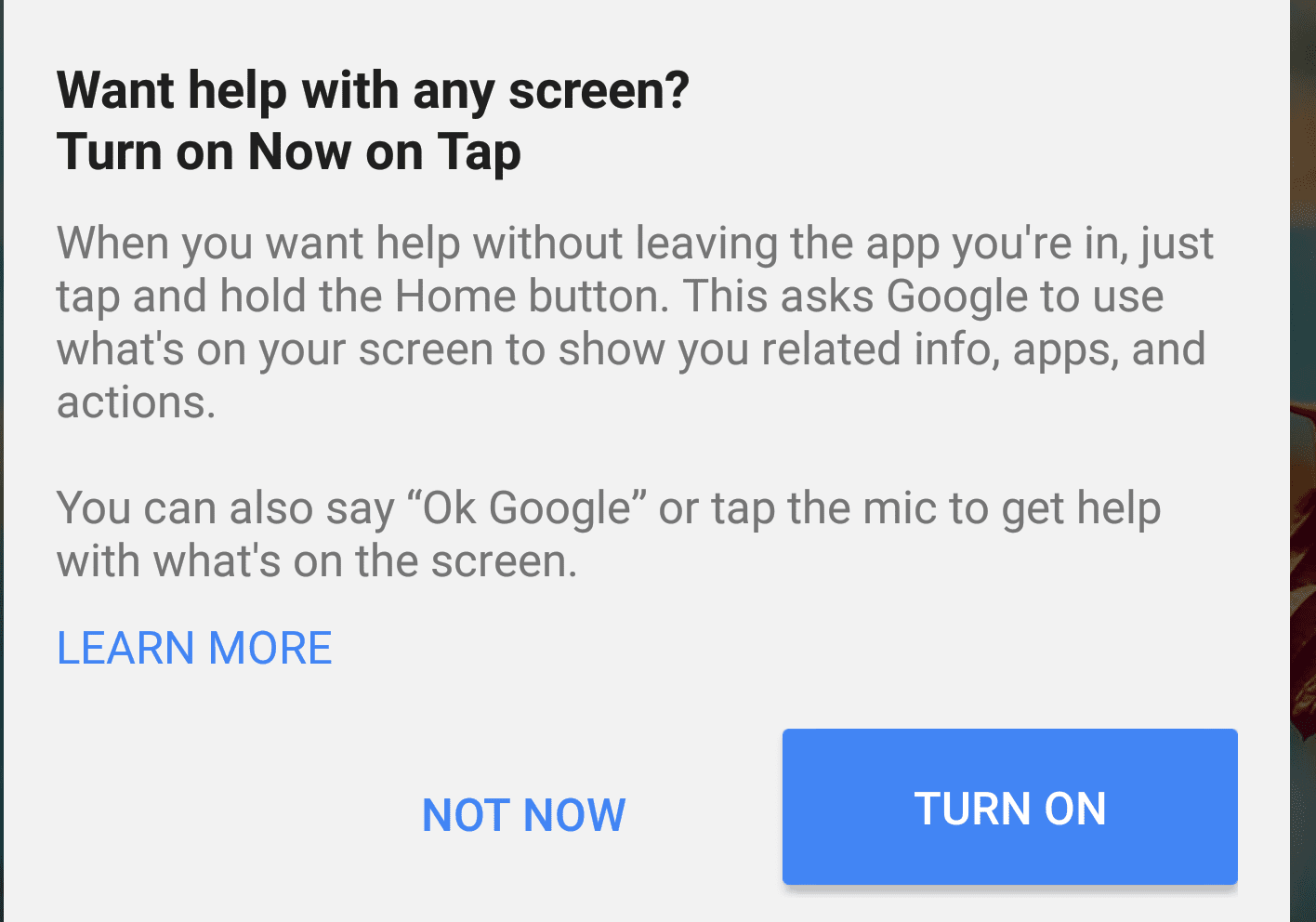 Image result for how to activate google now on tap