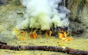 Ijen Sulphur Volcano