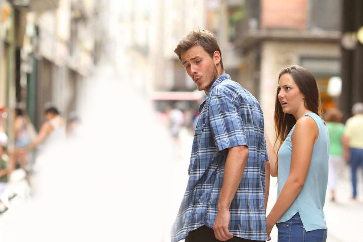 funny zoom background photos - distracted boyfriend