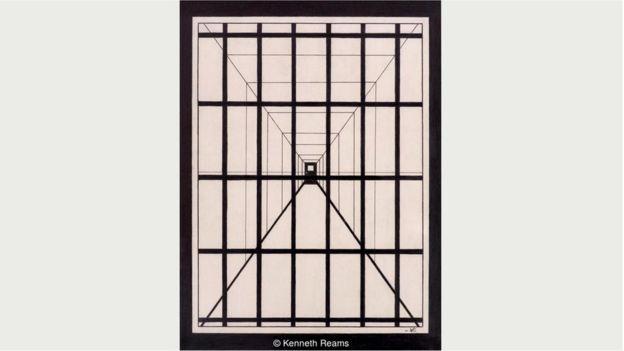 """Римс обращается к вопросу смертной казни напрямую, однако намеренно рисует абстрактные образы, как в этой картине под названием """"Последняя миля"""""""